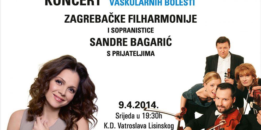 Najava humanitarnog koncerta Zagrebačke filharmonije i sopranistice Sandre Bagarić s gostima